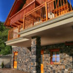 Rupicapra holiday mountain house front view